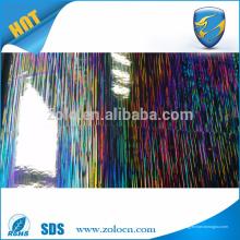 Anti-Fälschung Verpackungs-Laser Dekoration Film, PET selbstklebenden holographischen Film