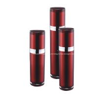 Botella de bomba de loción de envasado cosmético vacío rojo vino