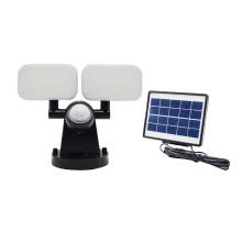 Super Bright Adjustable Dual Head 120LED Solar Motion Sensor Security Floodlight