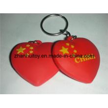 Llavero de la forma del corazón