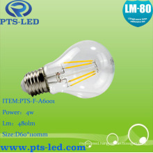 A60 4W 5W 6W 7W 8W 9W LED Filament Bulb with Dimmable and Non-Dimmable