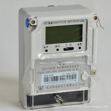 Cartão esperto de IC e medidor de eletricidade esperto pagado antecipadamente RF do cartão