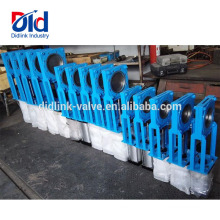 Pn16 Pneumatic Parallel Slide Automated Ductile Iron Square Roller Knife Gate Valve 8 Inch