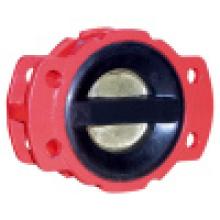 Válvula de retención recubierta de goma de doble placa Pn10 / 16
