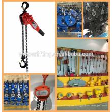 super calidad precio de fábrica manual de la palanca de la grúa con ultra fuerte de la cadena de carga