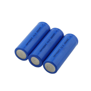 18490 3.7V 1400mAh Cellule de batterie Li-Ion