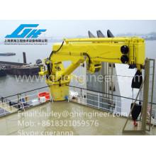 4T 6T Hydraulic Telescopic Ship Deck Crane