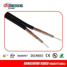 Rg59 com cabo de alimentação 2 Núcleo 18AWG
