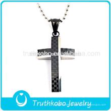 2016 diseño único joyería religiosa negro piedra acero inoxidable sueño significado cruz colgantes en venta