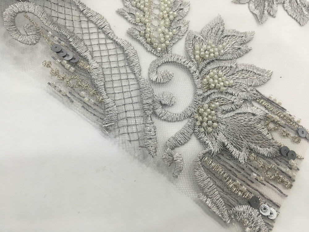 Pearl Embroidery Fabric
