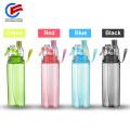 Botella plástica del agua potable del Mutil-Color del aerosol de la niebla de BPA con la paja