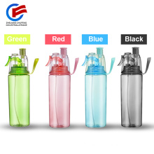 Plastic BPA Free Mist Spray Mutil-Color Drinking Water Bottle With Straw