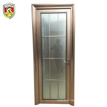 Mauritius commercial building frosted tempered glass bathroom aluminium profile door