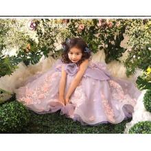 XXLF199 el modelo hermoso de los cabritos viste el desgaste del partido frocks el diseño del vestido para la niña