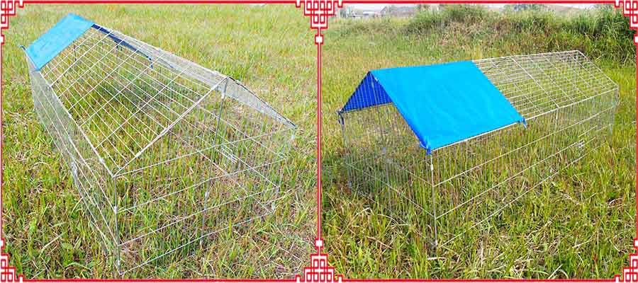 folding chicken coop run