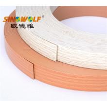 Couleurs populaires PVC Bord Banding pour panneau de particules