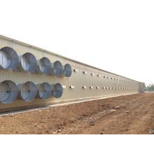 Vorfabriziertes helles Stahlstruktur-Huhn-Haus mit Ausrüstung (KXD-SSC1501)