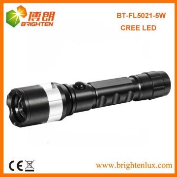Factory Wholesale Cheap Price Good Aluminium Zoomable Focus XPG 5W CREE a conduit la lampe torche rechargeable avec 1 * 18650 batterie au lithium