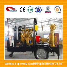 Irrigation portable diesel water pump powered with trailer