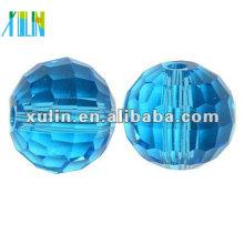 O chinês 96 facetou a bola de cristal do disco perla 5003 / grânulos da cor de água-marinha