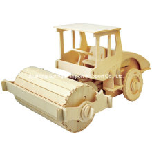 Boutique Colourless Wood Toy Vehicles-Road Roller