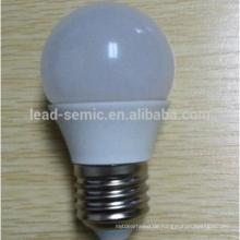 China Fabrik Preis E14 Aluminium und Kunststoff LED-Glühbirne G45