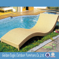Outdoor PE rattan beach chair