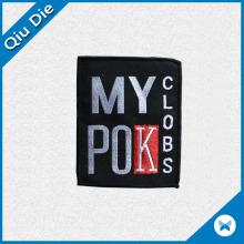 100% полиэфирные тканые этикетки / основные этикетки для одежды для бренда