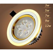3W / 5W / 7W / 9W / 12W LED Downlight para la tienda y la tienda de iluminación