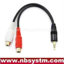 3.5mm estéreo macho a 2 RCA hembra adaptador de cable