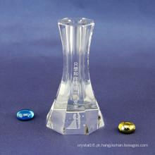 Vaso de cristal especial para decorações de casamento