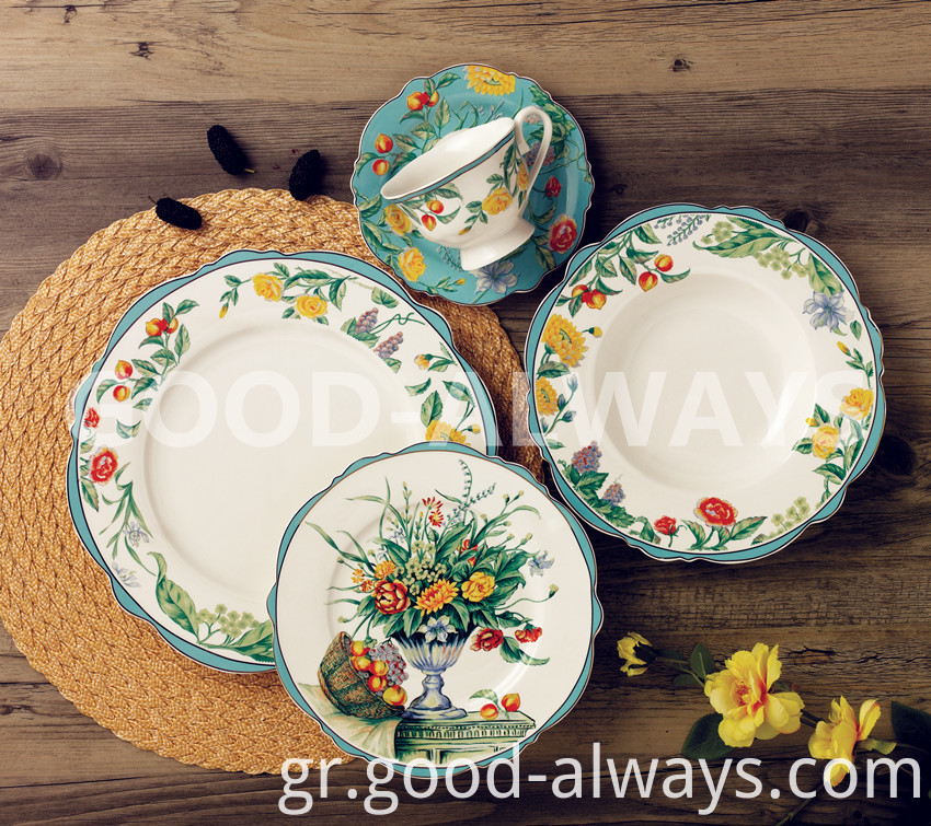 Nbc 741china Tableware With Flower Design