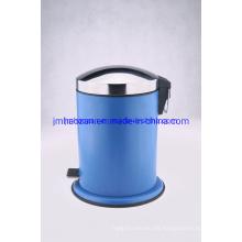 Cubo de basura de acero inoxidable con pedal, cubo de basura, cubo de basura