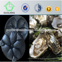 Austraila Market Popular 31*29cm Black Vacuum Forming Plastic Food Compartment Tray for Oyster in Restaurant