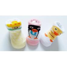 OEM Rubber Sole Anti - Slip Good Quality New Born Cartoon 3 D Baby Socks