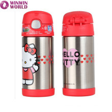 Wholesale Portable Cute Cartoon Drinking Stainless Steel Vacuum Flask For Children