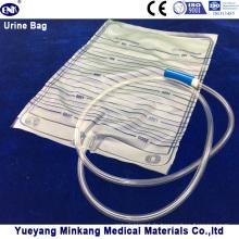 2000ml Medizinische Urin-Drainage-Tasche für Erwachsene ohne Ventil