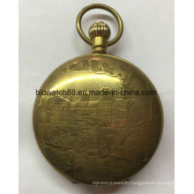 Big Size Cheap Quartz Alloy Pocket Watch for Men Womens