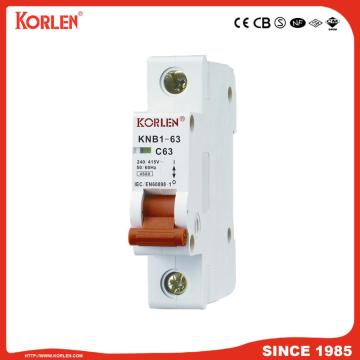 6ka Mini Circuit Breaker με CB KNB1-63 4P