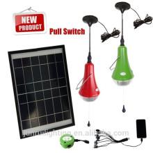 Luz em casa solar portátil, luzes solares interiores, a iluminação home da decoração