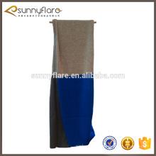 Usine d'approvisionnement hiver pur écharpe plaine en cachemire tricot 100% casmère trois couleur écharpe