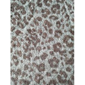 Poly Span Sanded Hacchi Leopard Print