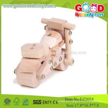 2015 Top Quality And Cheap Kid's Car Toy,Motorcycle-DIY Toys,Mini Natural Colors Wooden Car