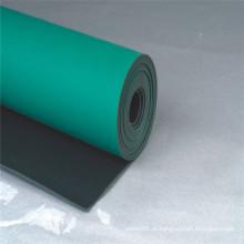 Folha de borracha do ESD, esteira de borracha do ESD, folha de borracha anti estática com cor verde, azul, cinzenta, preta
