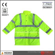 En20471 En343 High Visibility Jacket Hivis Winter Parka