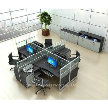 Partition de bureau de station de travail bureautique moderne avec piédestal mobile (HF-YZQ321)