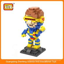 LOZ 9458 x-men Cyclops Супер герой бриллиантовый пластик строительный блок кирпичная игрушка