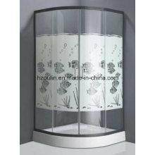 Cuarto de baño de cristal templado con diseño de los pescados (diseño de los pescados E-01)