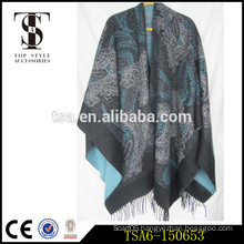timeless design heavy weight oversized paisley scarf Christmas gift acrylic capes & ponchos