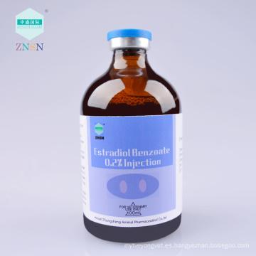 Venta caliente eficiente Estradiol Benzoate 0.2% inyección